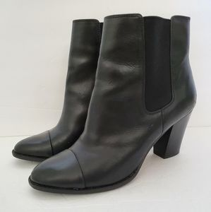 Saks Fifth Avenue leather booties 8.5